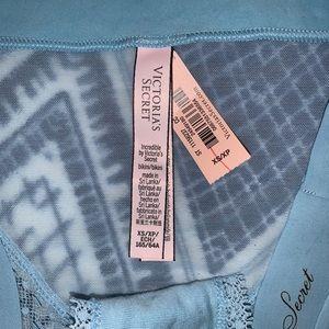 Victoria's Secret blue lace bikini panties